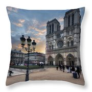 Notre Dame Cathedral Paris 2.0 Throw Pillow