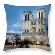 Notre Dame Cathedral Paris 3 Throw Pillow