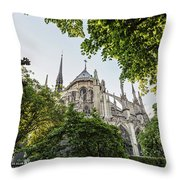 Notre Dame Cathedral - Paris, France Throw Pillow