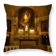 Notre-dame-de-bon-secours Chapel Throw Pillow