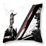 Notre Dame De Bon Secours-vieux Port Throw Pillow