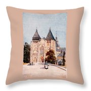 Notre Dame De La Couture Throw Pillow