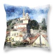 Notre Dame De La Garde-marseille Throw Pillow
