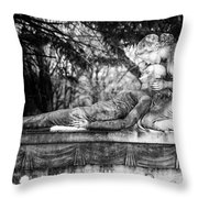 Notre-dame-des-neiges Cemetery Throw Pillow