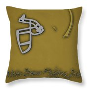 Notre Dame Fighting Irish Helmet 2 Throw Pillow