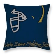 Notre Dame Fighting Irish Helmet Throw Pillow