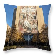 Notre Dame Library 2 Throw Pillow