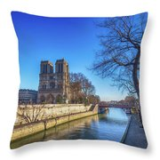 Notre Dame Of Paris  Throw Pillow