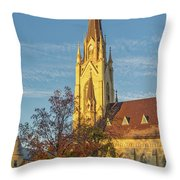 Notre Dame University Basilica Of The Sacred Heart Throw Pillow