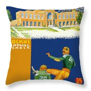 Notre Dame Versus Minnesota 1938 Program Throw Pillow