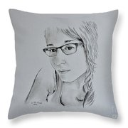 Notre Fille  Throw Pillow