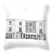 Notting Hill London City Scene Throw Pillow