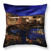 Notturno Fiorentino Throw Pillow by Guido Borelli