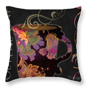 Nouveau Cafe Warm Throw Pillow