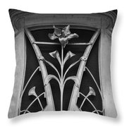 Nouveau Flower Throw Pillow