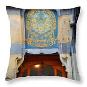 Nouveau Number Five Throw Pillow