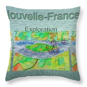 Nouvelle-france Mug Shot Throw Pillow