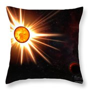 Nova And Dead Star Throw Pillow