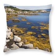 Nova Scotia Seascape Throw Pillow
