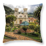 November 13 Park Throw Pillow