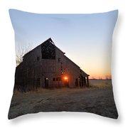 November Barn Throw Pillow