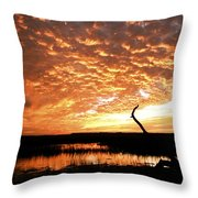 November Evening Throw Pillow