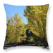 November Gold Throw Pillow