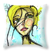 November Jane Throw Pillow