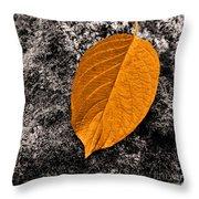 November Leaf Throw Pillow