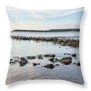 November Seascape 5 - Lyme Regis Throw Pillow