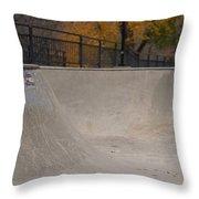 November Skatescape #4 Throw Pillow