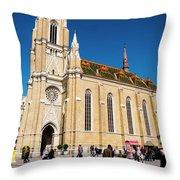 Novi Sad Cathedral Throw Pillow