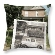 Now And Then Throw Pillow