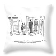 Now Imagine How Good That Would Look Completely Sweated Through Throw Pillow