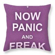 Now Panic 7 Throw Pillow