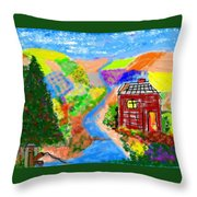 Now, Where Did He Disappear To? Throw Pillow