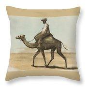Noyes, Edward , Riding Camel Throw Pillow
