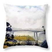 Noyo Harbor Throw Pillow