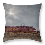 Ns 8104 Lehigh Valley At Booneville In Throw Pillow