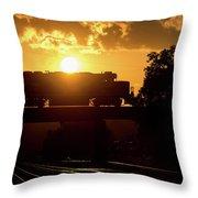 Ns Local At Sunset Throw Pillow