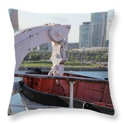 Interior Of Lifeboat Queen Mary Throw Pillow