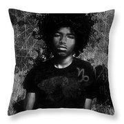 Ntr Rockstar Black And White Throw Pillow