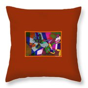 Nu Wall Graffiti Horns In The Landscape Of Sound/tony Adamo Throw Pillow