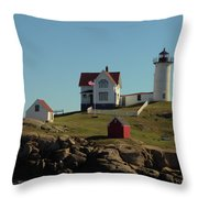 Nubble Light 4 Throw Pillow