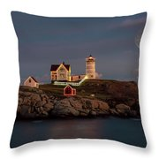 Nubble Light Full Moon Throw Pillow