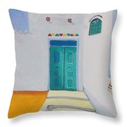 Nubian House Throw Pillow