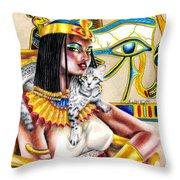 Nubian Queen Throw Pillow