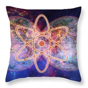 Nuclear World Throw Pillow