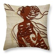 Nude 10 - Tile Throw Pillow
