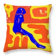 Nude 16 Throw Pillow